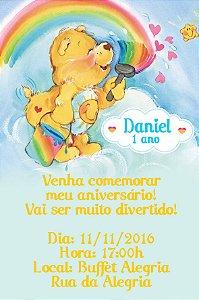 Convite digital personalizado Ursinhos Carinhosos