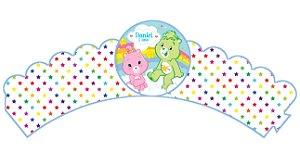 Pacote com 6 Wrappers personalizados Ursinhos Carinhosos