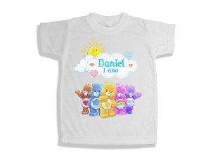 Camiseta Infantil Ursinhos Carinhosos