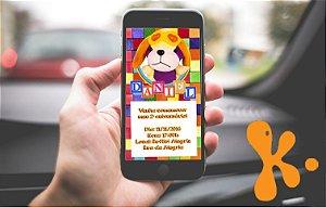 Convite personalizado para WhatsApp Brinquedos
