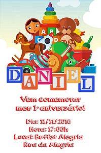 Convite digital personalizado Brinquedos 002