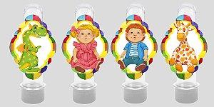 Embalagem com 8 apliques para Tubete Brinquedos