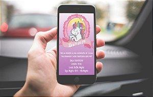Convite personalizado para WhatsApp Unicornio II