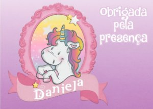 Cartão de Agradecimento Unicornio II