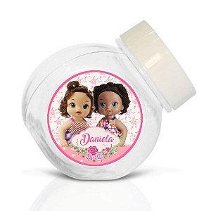 Embalagem com 40 adesivos baleirinho Baby Alive