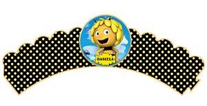 Pacote com 6 Wrappers personalizados A Abelha Maia