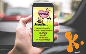 Convite personalizado para WhatsApp Abelhas