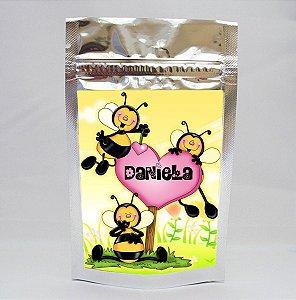 Adesivo para Saco Metalizado Abelhas