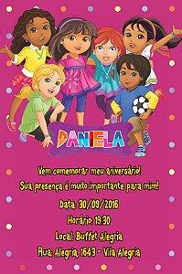 Convite digital personalizado Dora e Seus Amigos na Cidade 008