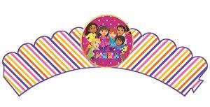 Pacote com 6 Wrappers personalizados Dora e Seus Amigos na Cidade