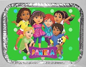 Marmitinha personalizada Dora e Seus Amigos na Cidade