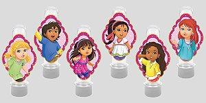 Embalagem com 12 apliques para Tubete Dora e Seus Amigos na Cidade