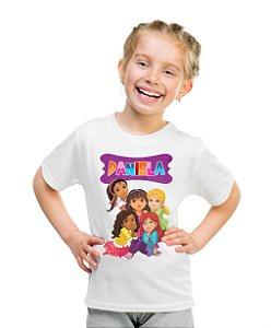 Camiseta Infantil Dora e Seus Amigos na Cidade