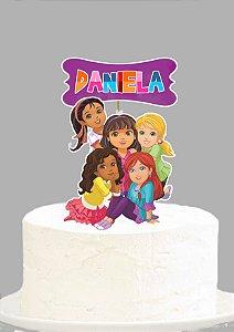 Topo de Bolo Personalizado Dora e Seus Amigos na Cidade