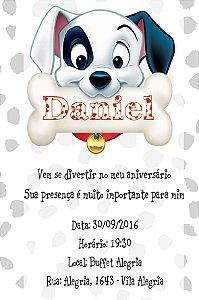 Convite digital personalizado 101 Dalmatas 015