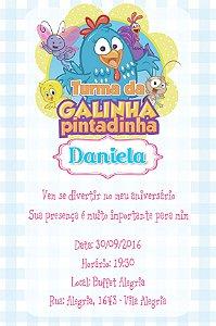 Convite digital personalizado Galinha Pintadinha