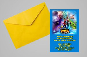 Convite 10x15 Zak Storm