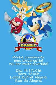 Convite digital personalizado Sonic 006