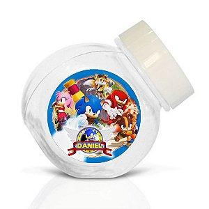 Embalagem com 40 adesivos baleirinho Sonic