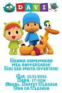 Convite digital personalizado Pocoyo 013