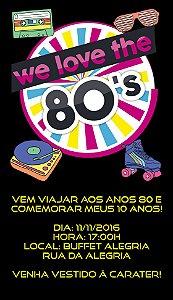 Convite personalizado para WhatsApp Anos 80