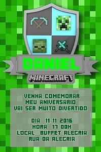 Convite digital personalizado Minecraft 011