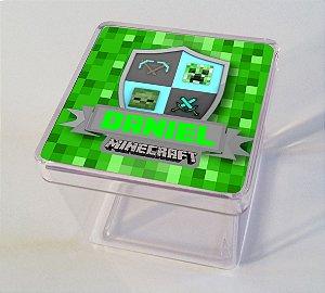 Adesivo caixinha acrílica Minecraft