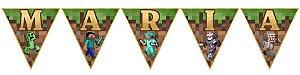Bandeirinha Personalizada Minecraft