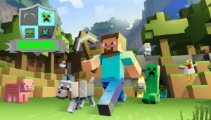 Adesivo personalizado para Bolinha de Sabão Minecraft