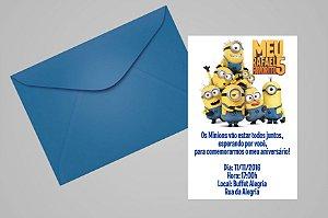 Convite 10x15 Minions 022