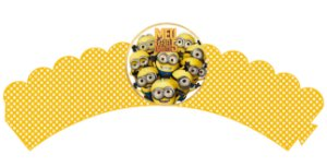 Pacote com 6 Wrappers Minions