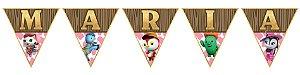 Bandeirinha Personalizada A Xerife Callie no Oeste