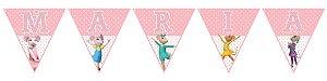 Bandeirinha Personalizada Angelina Bailarina