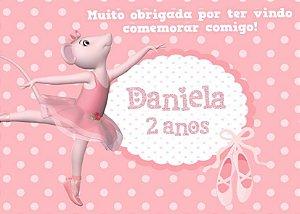 Cartão de Agradecimento Angelina Bailarina