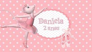 Adesivo personalizado para Bolinha de Sabão Angelina Bailarina