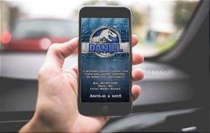 Convite personalizado para WhatsApp Jurassic World Dinossauro