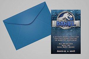 Convite 10x15 Jurassic World Dinossauro
