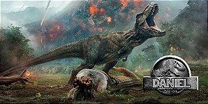 Adesivo para cofrinho personalizado Jurassic World Dinossauro
