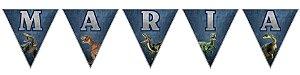 Bandeirinha Personalizada Jurassic World Dinossauro