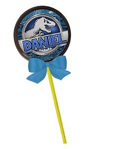 Adesivo personalizado para pirulito Jurassic World Dinossauro