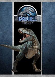 Adesivo personalizado para bisnaguinha de brigadeiro Jurassic World Dinossauro