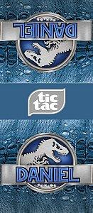 Adesivo personalizado para TicTac Jurassic World Dinossauro