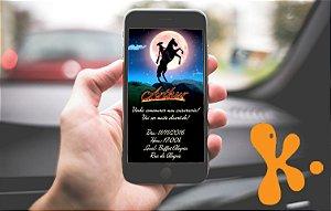 Convite personalizado para WhatsApp Zorro
