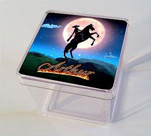 Adesivo caixinha acrílica 7x7 Zorro