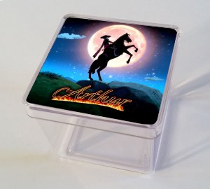 Adesivo caixinha acrílica 5x5 Zorro