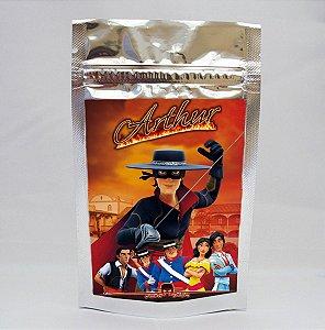Adesivo para saco metalizado Zorro