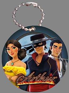 Tag com Correntinha 5 x 5 cm Zorro