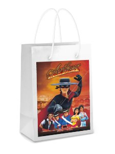 Adesivo para sacolinha Zorro