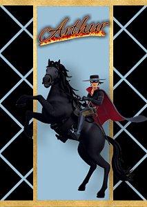 Adesivo personalizado para bisnaguinha de brigadeiro Zorro