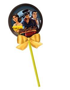 Adesivo personalizado para pirulito Zorro